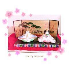 ひな祭り/ピンク/暮らし 昨年私用にと購入した雛人形(*˘︶˘*)…(1枚目)