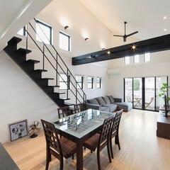 注文住宅/スケルトン階段 閑静な住宅街に片流れ屋根のシャープな外観…