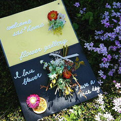 Welcomeボード/ウェルカムボード手作り/インテリア/お花のある暮らし/フラワーアレンジ/プリザーブドフラワー/... 皆さんこんにちわ😃  クリアファイルと工…