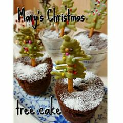 ツリーケーキ/クリスマスツリー/スイーツ クリスマスに向けて試作ケーキを作りました…