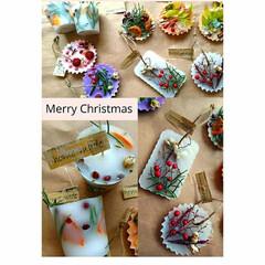キャンドル作り/お花好きさんと繋がりたい/お花のある暮らし/お花/ドライフラワー/プリザーブドフラワー/... Merry Christmas🎄✨🎁✨🎅…