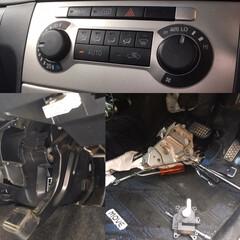 修理/車/DIY/暮らし/節約 車のオートエアコンの誤作動を分解清掃接点…