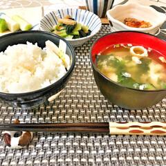 箸置き/いつもありがとう/ごちそうさま/朝ごはん/Breakfast/delicious/... 今朝の嫁さんが作ってくれた朝ごはん。鶏肉…(4枚目)