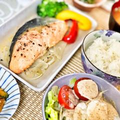 朝ごはん/朝ごはん大好き/美味しいご飯/ごちそうさまでした/キッチン/いつもありがとう/... 今朝の嫁さんが作ってくれた朝ごはん。鮭の…