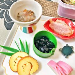 おせち料理/箸置き/いつもありがとう/ごちそうさま/朝ごはん/Breakfast/... 嫁さんが作ってくれたおせち朝ごはん。毎年…(4枚目)