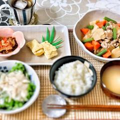 おうちごはん/和食器/嫁さんの手作り/朝食/いつもありがとう/これからもよろしく/... 今朝の嫁さんが作ってくれた朝ごはん。メイ…