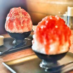 天然氷/かき氷/令和の一枚/フォロー大歓迎/LIMIAペット同好会/にゃんこ同好会/... ジロー珈琲で食べた天然氷のかき氷です。天…