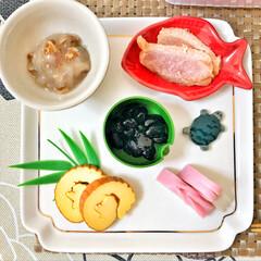 おせち料理/箸置き/いつもありがとう/ごちそうさま/朝ごはん/Breakfast/... 嫁さんが作ってくれたおせち朝ごはん。毎年…(1枚目)