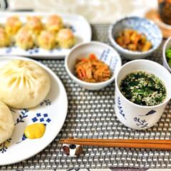 箸置き/いつもありがとう/ごちそうさま/朝ごはん/Breakfast/delicious/... 551の豚まんと焼売。大阪にいるお父さん…(2枚目)