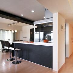 キッチン/キッチンテーブル/オープンキッチン/対面式キッチン/椅子 /住まい/... 閉鎖されていたキッチンをオープンキッチン…