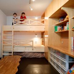 子供部屋/部屋/造作家具/机/棚/二段ベッド/... マンションの子供部屋をリフォームしました…