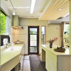 キッチン/四季/色彩/庭/リフォーム/リノベーション/... 四季とりどりに鮮やかな色彩を放つ庭の色が…