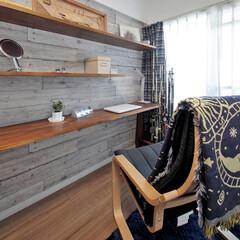 趣味の部屋/カウンターデスク/棚/壁/居心地/部屋/... ひと部屋を趣味の部屋にしてみました。  …