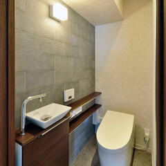トイレ/調湿/マンション/壁紙/手洗い/リフォーム/... マンションのトイレのため 調湿機能のある…