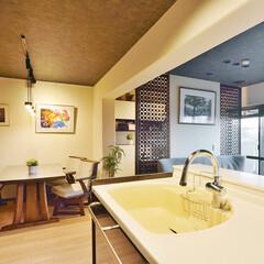 キッチン/対面型キッチン/ダイニング/書斎/窓/開放感/... キッチンを対面型にリフォームしました。 …