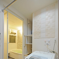 収納/収納棚/棚/デッドスペース/隙間収納/収納力/... お風呂場と洗濯機の間あったデッドスペース…