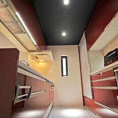 キッチン/赤色/赤/キッチン収納/キッチンカウンター/収納/... 好きな色の赤を取り入れたキッチンにリフォ…