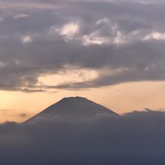 箱根/富士山 箱根旅の富士山🗻  ①② 帰宅間際の 御…