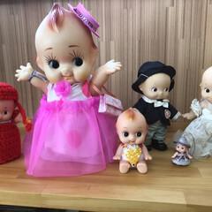 癒し/懐かしい/みんなのアイドル/キューピーちゃん/なつかしい/介護施設 職場に飾ってある いただき物の キューピ…