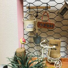 植木鉢のはずが/ドールハウス風/お気に入り/我ながら可愛い/100均/ダイソー/... こんなの作ってみた〜😊 skyカフェ☕️…(4枚目)