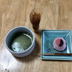 お抹茶/お茶会/フォロー大歓迎 職場で初釜に因んで お作法なしのお茶会❣…
