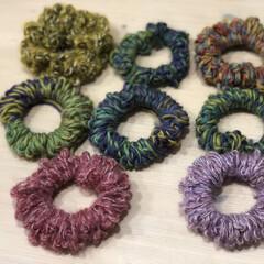 アームバンド/毛糸のシュシュ/すぐに調子に乗る 昨年作った毛糸の🧶シュシュが可愛い💕とお…