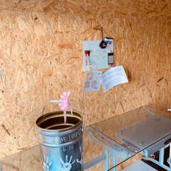 父の日プレゼント/ガレージハウス/わたしの手作り/インテリア/DIY MY工房にOSB合板で内壁を張ってみまし…(6枚目)