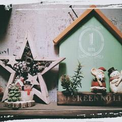 星モチーフ/ナチュラルキッチン/賃貸インテリア/玄関インテリア/クリスマス飾り/スノーマン/... 去年か一昨年か忘れたけど💦 スプーンとフ…