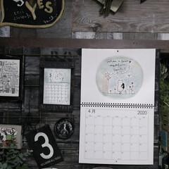 賃貸インテリア/gamiカレンダー/らくがき屋gami/新生活/雑貨/住まい/... 4月になったからgamiちゃんカレンダー…