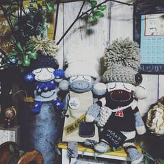インテリア/ハンドメイド/アニマル雑貨/ぬいぐるみ/ソックスモンキー/ソクモン/... 素敵便❤️  可愛いソクモンちゃん🐵が届…