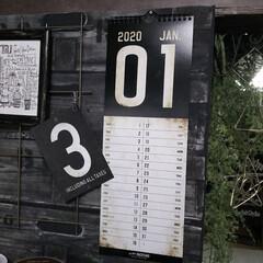 賃貸暮らし/賃貸インテリア/ヴィンテージ風/男前インテリア/男前雑貨/男前/... 男前なカレンダーが届きました😆💕  10…