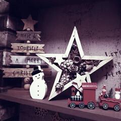 カフェ風インテリア/男前インテリア/賃貸インテリア/クリスマスインテリア/クリスマス雑貨/クリスマス飾り/... なんか昨日は暖かかったけど…今日は寒い⛄…