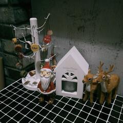 Gamily/賃貸インテリア/クリスマスインテリア/クリスマス/クリスマス飾り/クリスマス雑貨/... 2年前にワークで作ったクリスマスツリー✨…