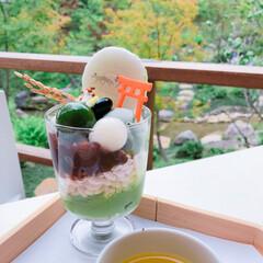 和カフェ/テラス席/カフェ/はじめてフォト投稿/おでかけ/グルメ/... 【カフェ】 京都の伏見稲荷内にある和カフ…