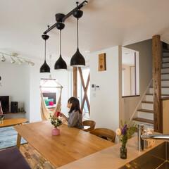 r+house/建築家住宅/リビング/ダイニング/キッチン/フローリング/... 結婚後、賃貸住宅で生活しながら、理想の暮…
