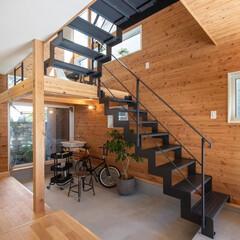建築/住まい/住宅設備/不動産・住宅/一戸建て/注文住宅/... 玄関から奥の庭まで続く土間は、現代の「通…