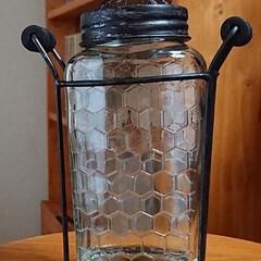 ガラス瓶/アイアン雑貨/雑貨/インテリア 昨日、出かけた帰りに、雑貨屋さんへ久しぶ…