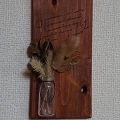 木の実/ガラスペイント/ガラス瓶/キャンドゥ/100均/DIY/... おはようございます🙇 昨日は心配してた☔…