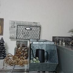 ガラス瓶/木の実/ダイソー/100均/DIY/雑貨/... おはようございます🙇 今日も朝は寒い..…