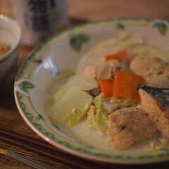 和風/白だし/秋鮭/秋の味覚/クリーム煮/おかず/... 少しずつ寒くなってきたこの頃。あったかい…