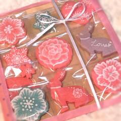 自己流/エンブロイダリー/アイシングクッキー/スイーツ/手作り/バレンタイン/... バレンタインなのにチョコじゃないやつあげ…