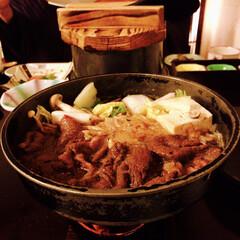 肉/米沢牛/すき焼き/観光地/観光/温泉/... 米沢牛のすき焼き🐮💕