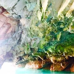 思い出/冬の思い出/冬の一枚/洞窟/絶景スポット/絶景/... 青の洞窟へ  季節により様々な表情を魅れ…(2枚目)