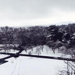 雪/城/観光スポット/観光地/観光/白石市/... 白石城🏯