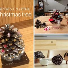 DIY/クリスマスツリー/ウッドワン/まつぼっくり/クリスマス 大きな「まつぼっくり」で作る クリスマス…