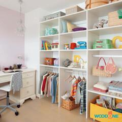 収納/カスタマイズ/子供部屋/可動棚/壁面/ウッドワン/... いつまでも使い続けることができる機能性を…