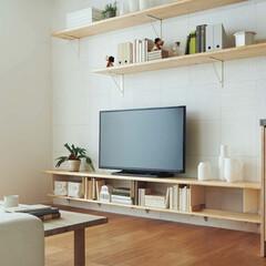 無垢の木/無垢の木の棚板/無垢の木のTVボード/ウッドワン 無垢の木の棚板を使用した「TVボード」で…