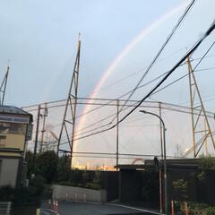 虹 昨日のものすごい雨の後には  大きな二重…(1枚目)