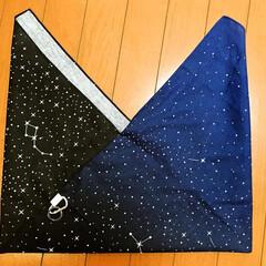 巾着袋/カラビナ/楽器柄の布/手拭い/あづま袋 お友達にもらった、ホルン(楽器柄📯)布で…(3枚目)