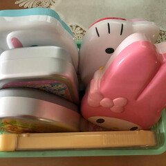 お弁当箱/お弁当 懐かしいお弁当箱たち。 娘が幼稚園から小…(1枚目)